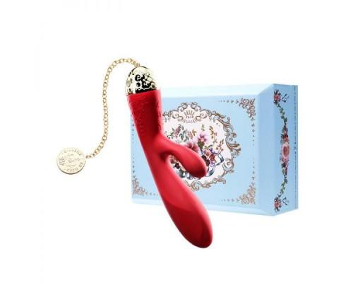 Вибромассажер - кролик с функцией управления со смартфона ZALO Rosalie, Bright Red